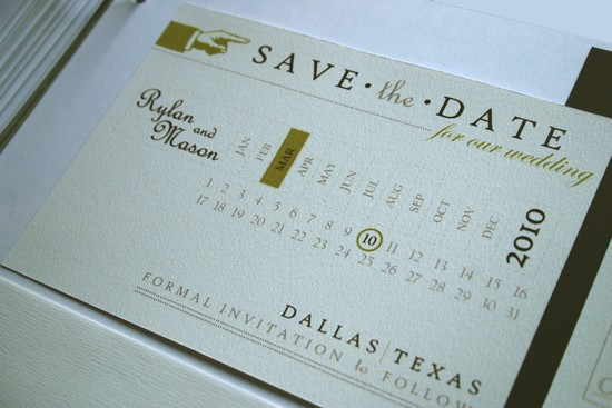 unique wedding save the dates calendar design Invitations on Etsy vintage in Texas