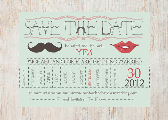 unique wedding save the dates calendar design Invitations on Etsy quirky