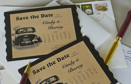 unique wedding save the dates calendar design Invitations on Etsy vintage 2