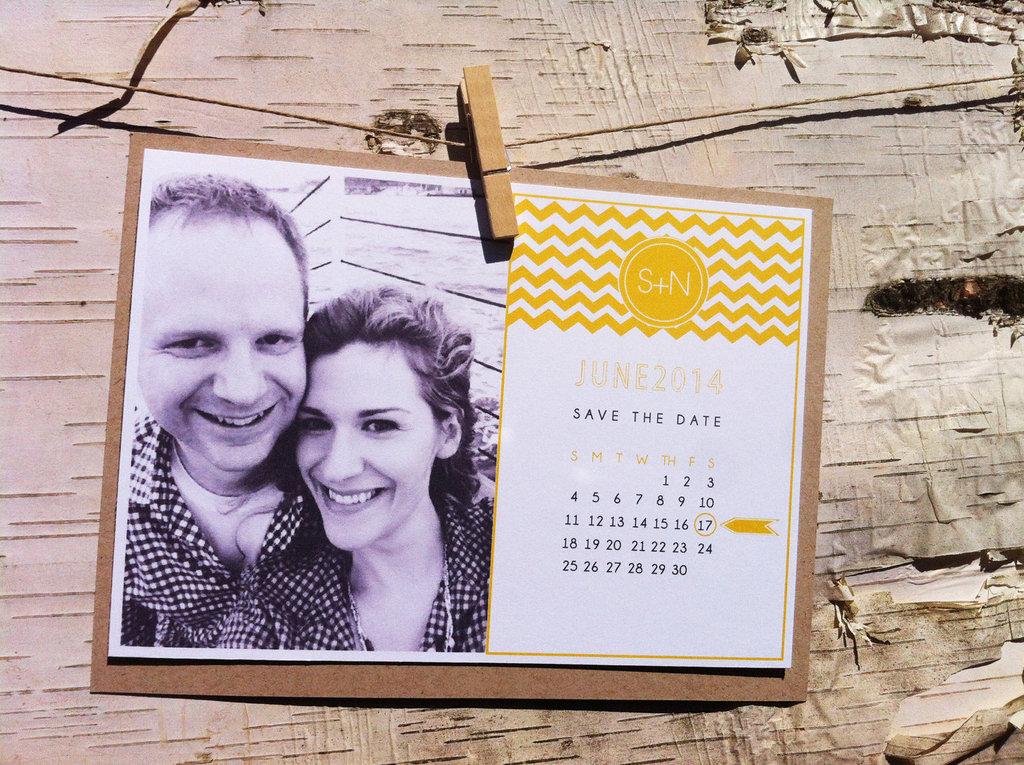 Unique Wedding Save The Dates Calendar Design Invitations On Etsy
