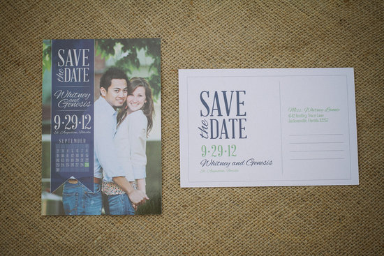unique wedding save the dates calendar design Invitations on Etsy navy with couples photo