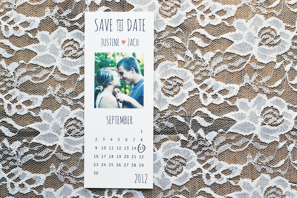 unique wedding save the dates calendar design Invitations on Etsy 2