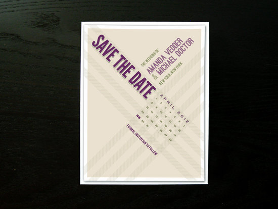 unique wedding save the dates calendar design Invitations on Etsy 3