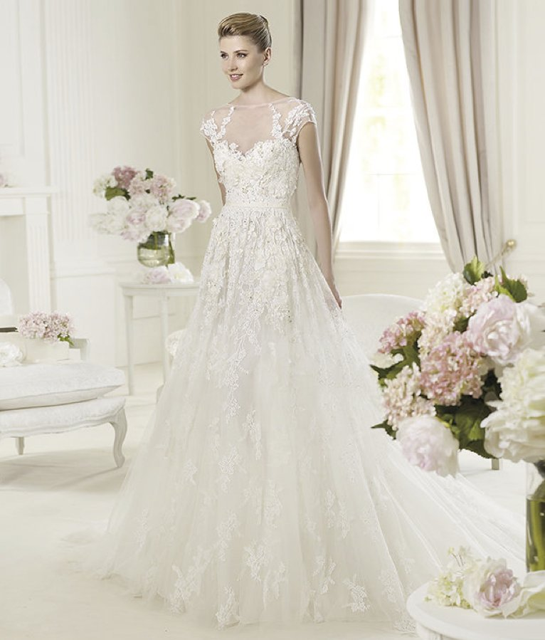 2013 wedding dress Elie Saab bridal collection for Pronovias Monceau 1