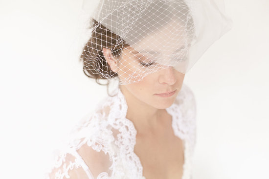 tulle wedding accessories for romantic brides from Etsy tulle french net veil