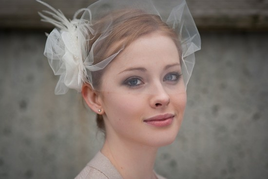 tulle wedding accessories for romantic brides from Etsy bridal veil bandeau