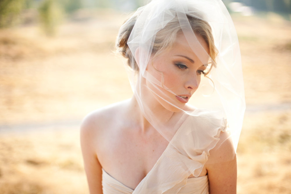 tulle wedding accessories for romantic brides from Etsy veil with blusher