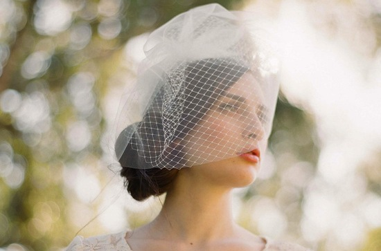 tulle wedding accessories for romantic brides from Etsy double layer birdcage veil