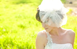 photo of 30 Beautiful Tulle Bridal Veils & Hair Accessories