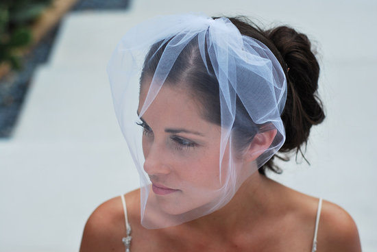 tulle wedding accessories for romantic brides from Etsy illusion birdcage veil