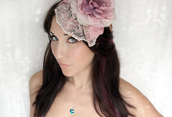 romantic wedding color inspiration soft mauve from Etsy hat