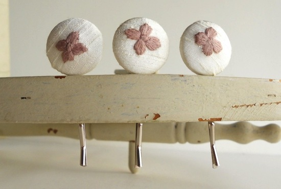 romantic wedding color inspiration soft mauve from Etsy hair pins