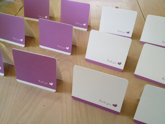 romantic wedding color inspiration soft mauve from Etsy thank you notes