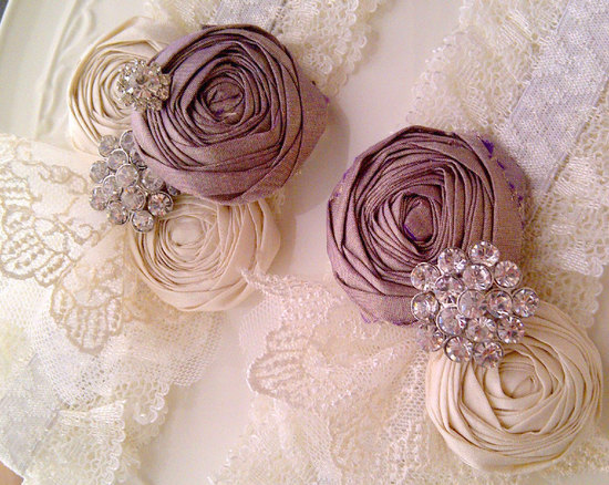 mauve wedding pretties romantic wedding accessories 1