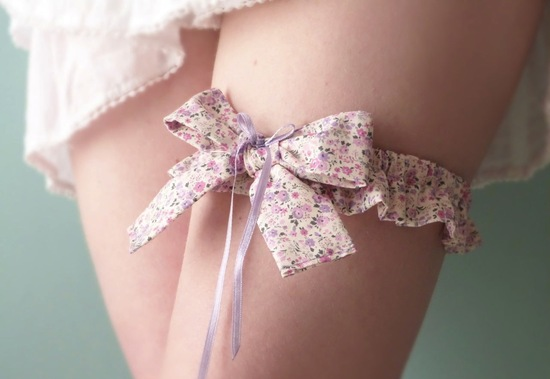 romantic wedding color inspiration soft mauve from Etsy garter