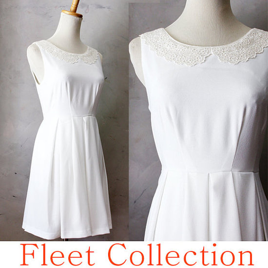 photo of ETIQUETTE in White - Vintage Inspired Dress by FleetCollection on Etsy, $65.