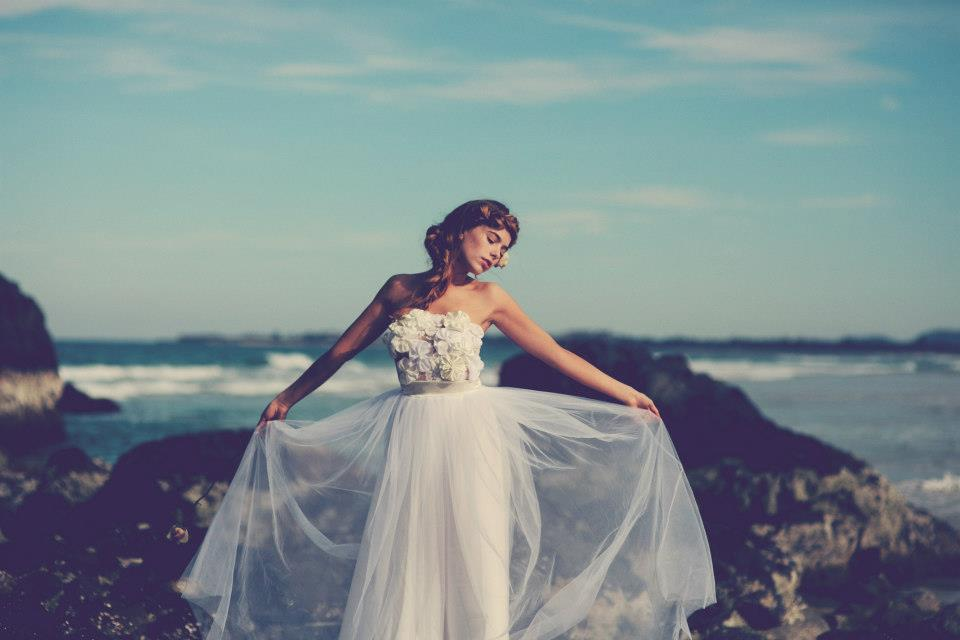 Bohemian Bride At A Beach Wedding Bridal Gown Beauty Inspiration 18