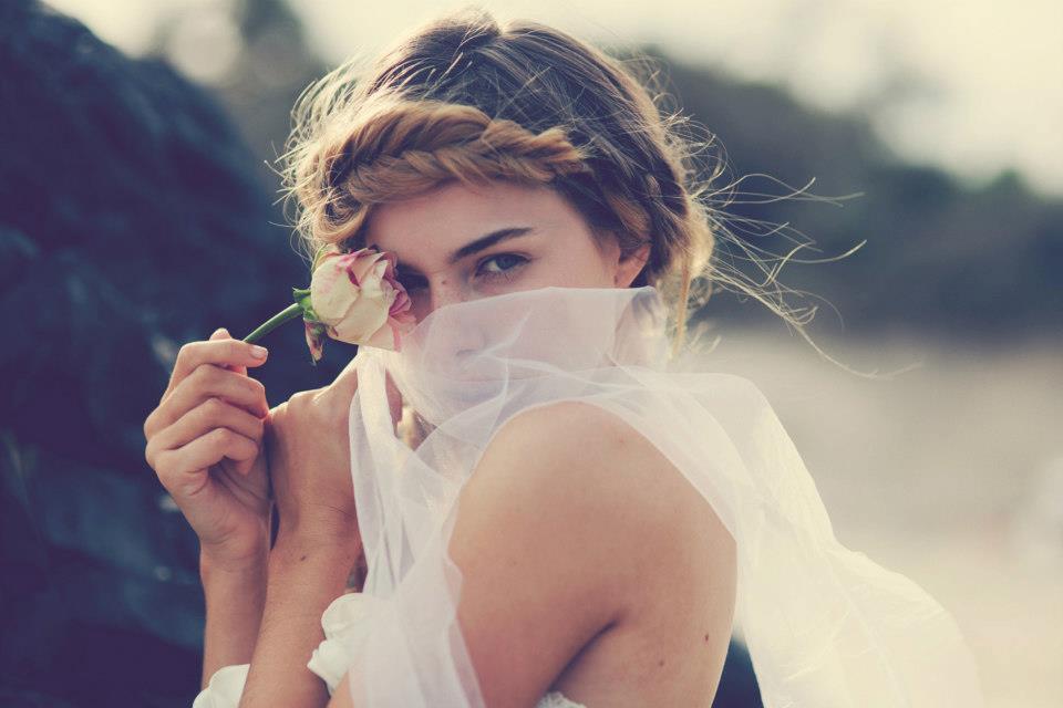 Bohemian Bride At A Beach Wedding Bridal Gown Beauty Inspiration 3