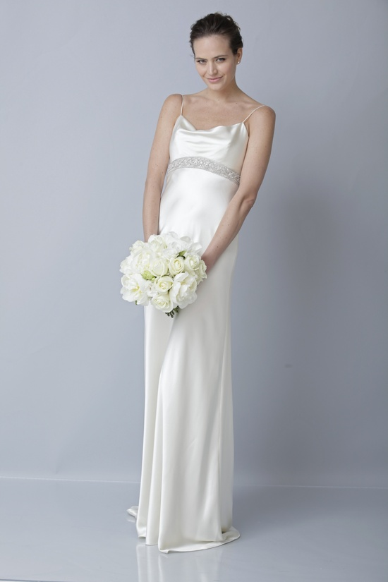 2013 wedding dress by Theia bridal gowns slinky silk