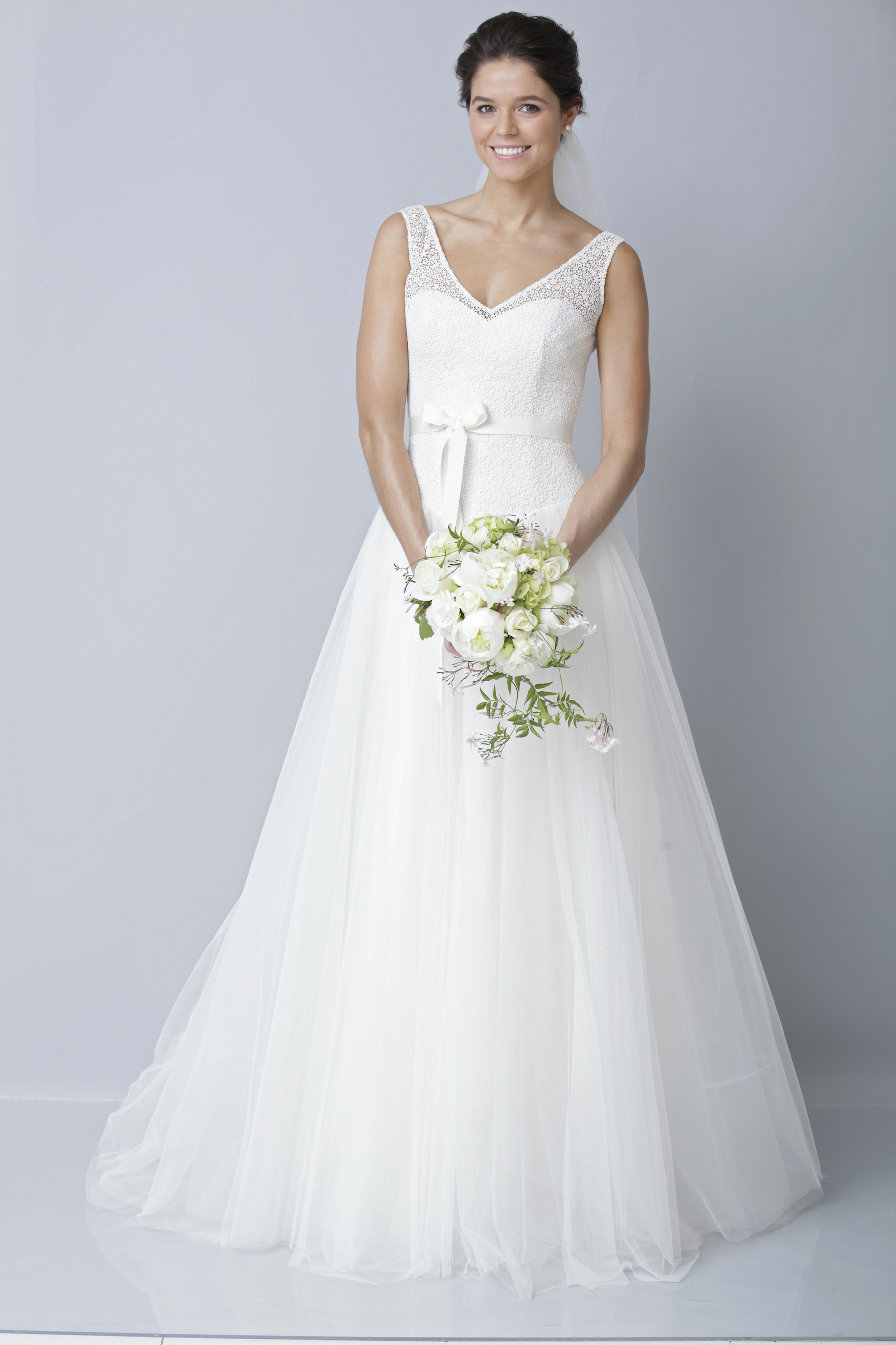 2013 wedding dress by theia bridal gowns a line illusion for Picture of a wedding dress