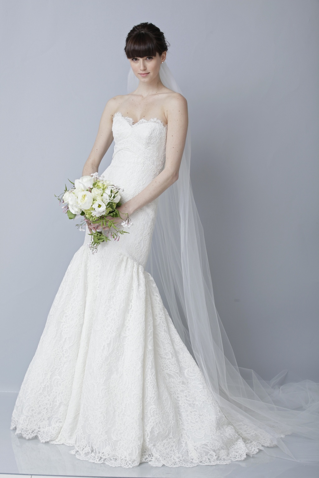 2013 wedding dress by Theia bridal gowns lace mermaid