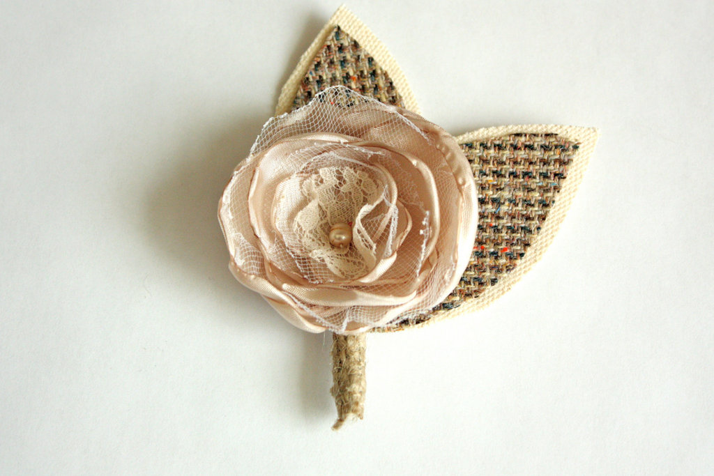 unique boutonnieres for grooms handmade weddings by Etsy shabby chic