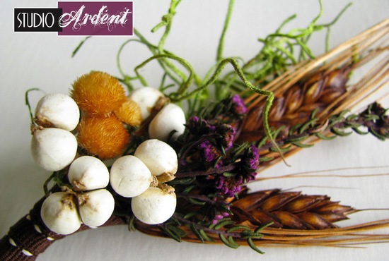 unique boutonnieres for grooms handmade weddings by Etsy chocolate wheat