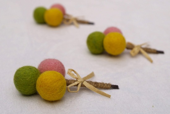unique boutonnieres for grooms handmade weddings by Etsy fabric billy balls