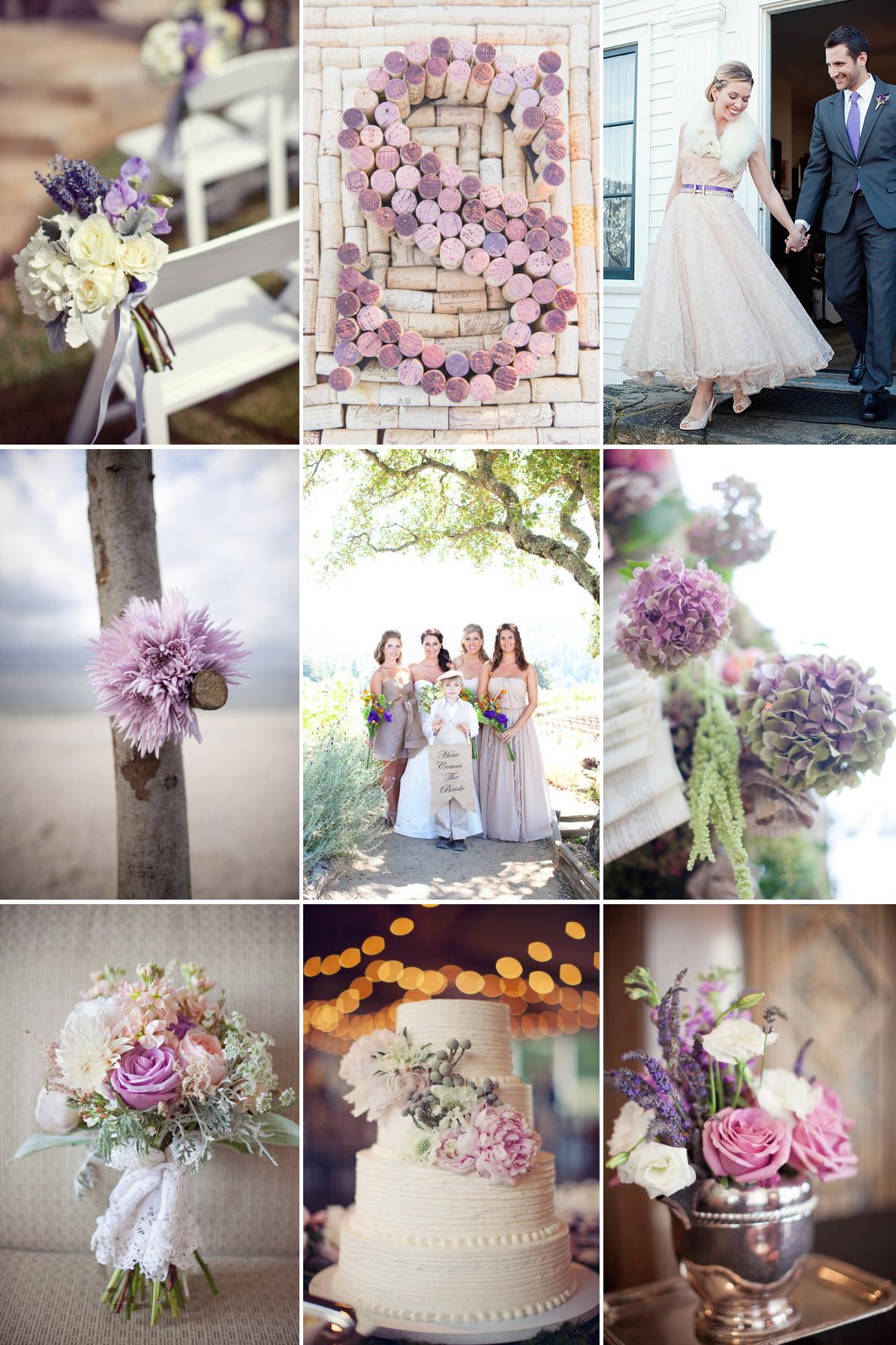 romantic wedding color inspiration soft plum lilac
