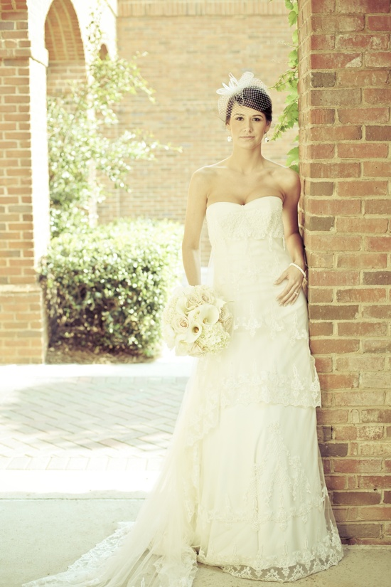 charming country club wedding ivory lace bridal gown