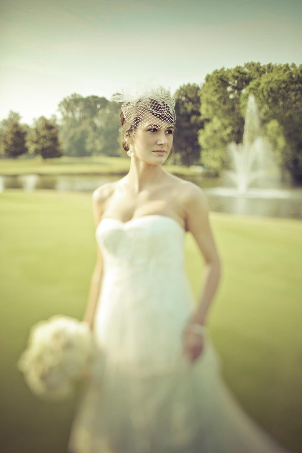 Georgia Wedding Photography Country Club Venue Bridal Portrait