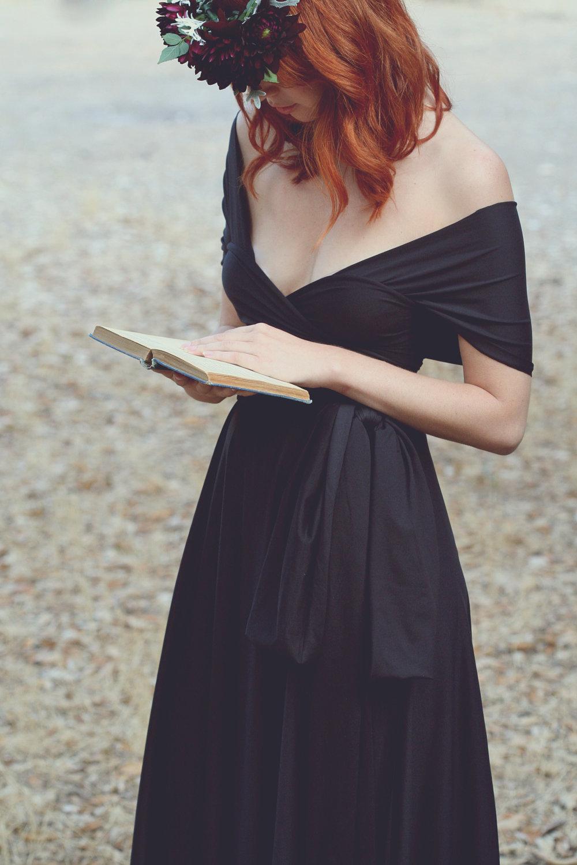 Black-bridesmaid-dress-off-the-shoulder-1.full