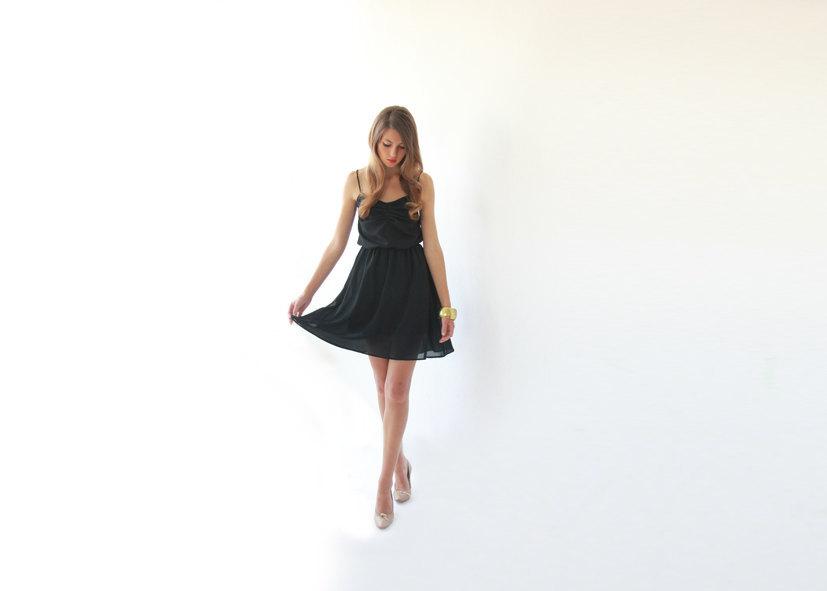 Simple-black-bridesmaid-dress-spaghetti-straps.full