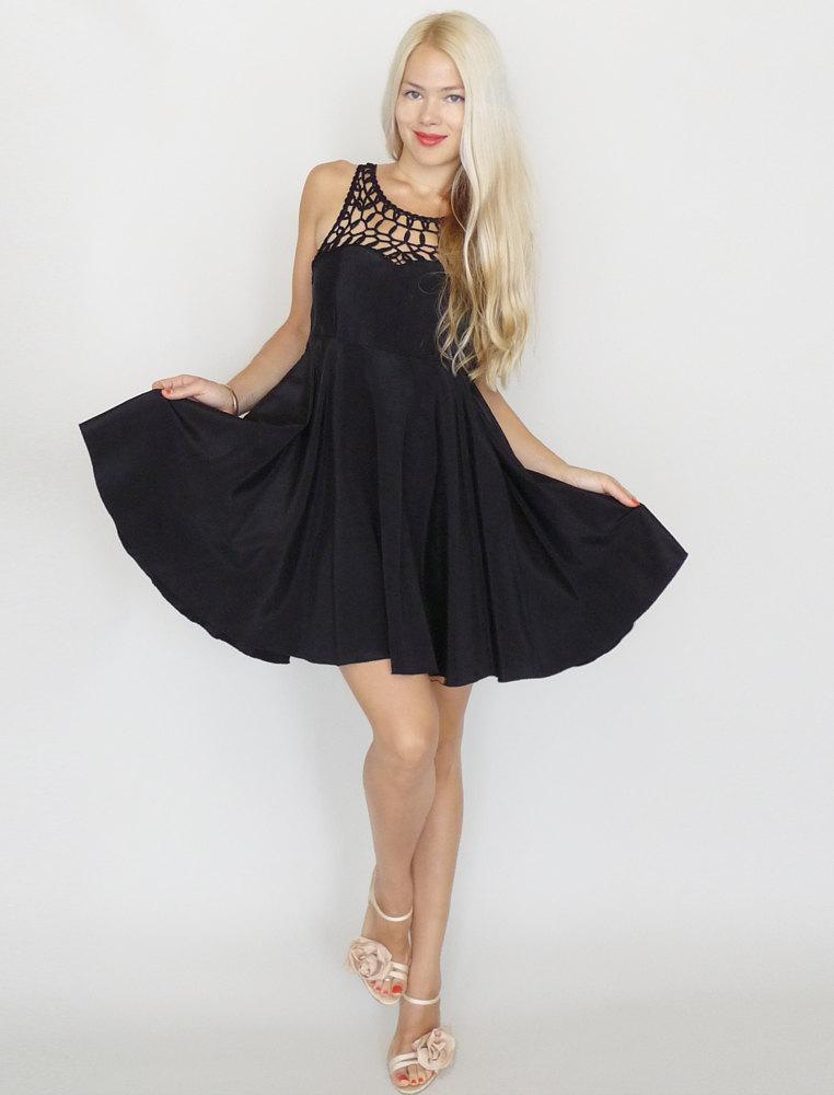 chic black bridesmaid dresses Etsy 1 | OneWed.com - photo #16