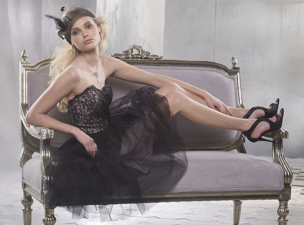 Lace-tulle-black-bridesmaid-dress-downtown-chic.full