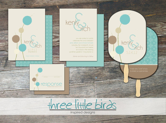 wedding invitations for modern weddings Etsy wedding finds turquoise taupe