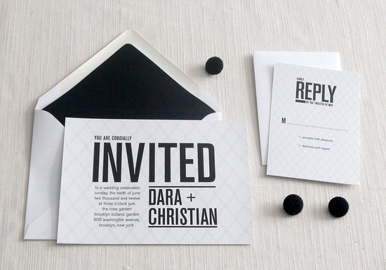 wedding invitations for modern weddings Etsy wedding finds black white chic