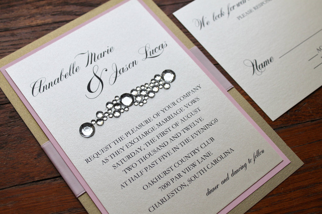 wedding invitations for modern weddings Etsy wedding finds bling