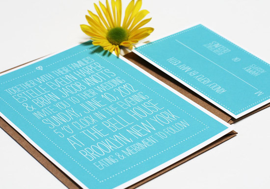 wedding invitations for modern weddings Etsy wedding finds aqua