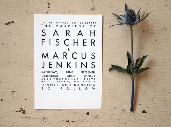 wedding invitations for modern weddings Etsy wedding finds white black
