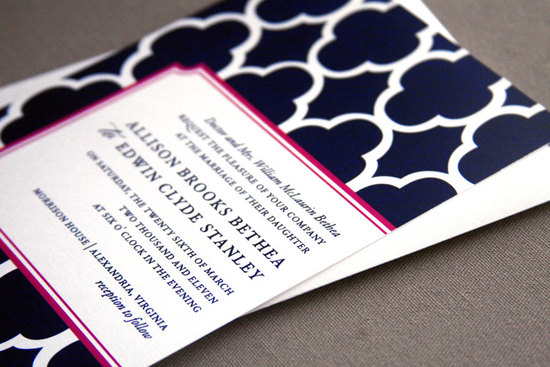 wedding invitations for modern weddings Etsy wedding finds black white fuschia