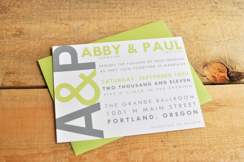 wedding invitations for modern weddings Etsy wedding finds celery gray