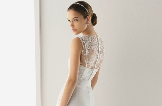 2013 wedding dresses beautiful statement backs by Rosa Clara sheer lace