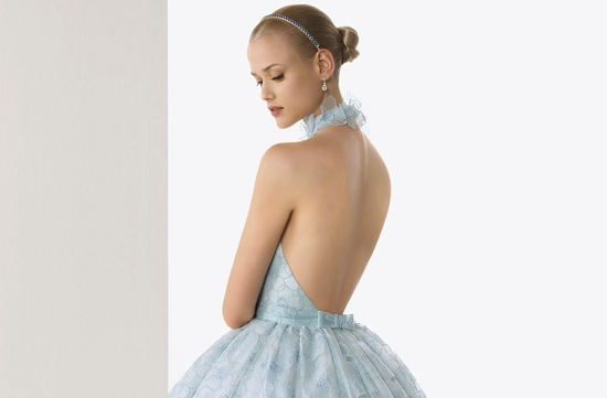 2013 wedding dresses beautiful statement backs by Rosa Clara sky blue