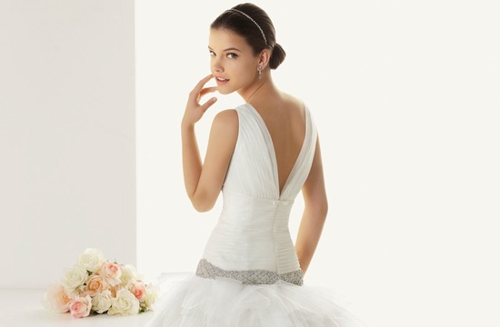 2013 wedding dresses beautiful statement backs by Rosa Clara deep v