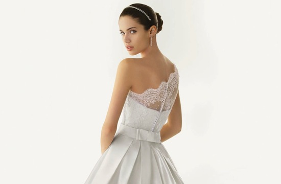 2013 wedding dresses beautiful statement backs by Rosa Clara lace one shoulder