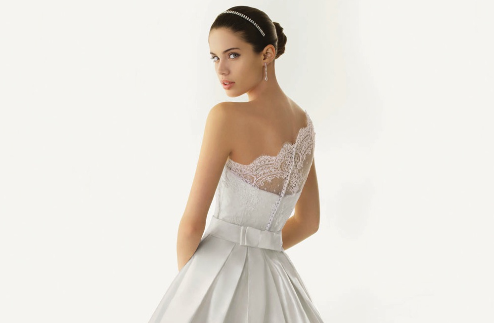 2013 wedding dresses beautiful statement backs by rosa for Lace one shoulder wedding dress