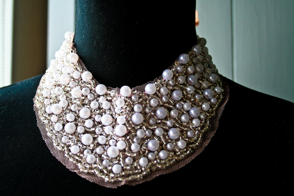 pearl wedding accessories handmade Etsy wedding finds bib necklace