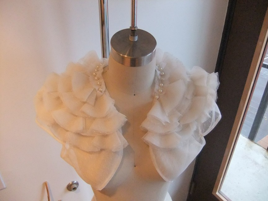 pearl wedding accessories handmade Etsy wedding finds tulle bolero