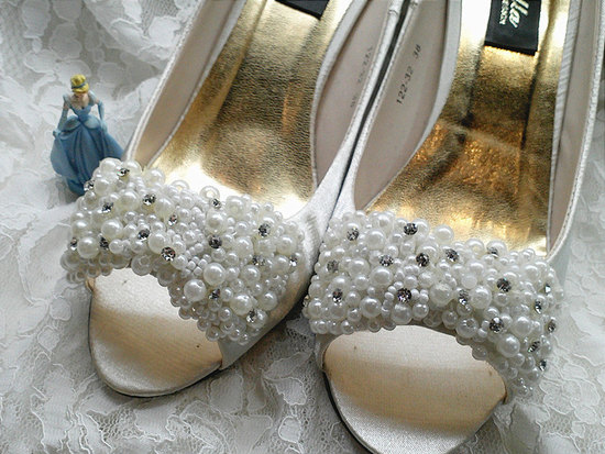 pearl wedding pretties shoe clips